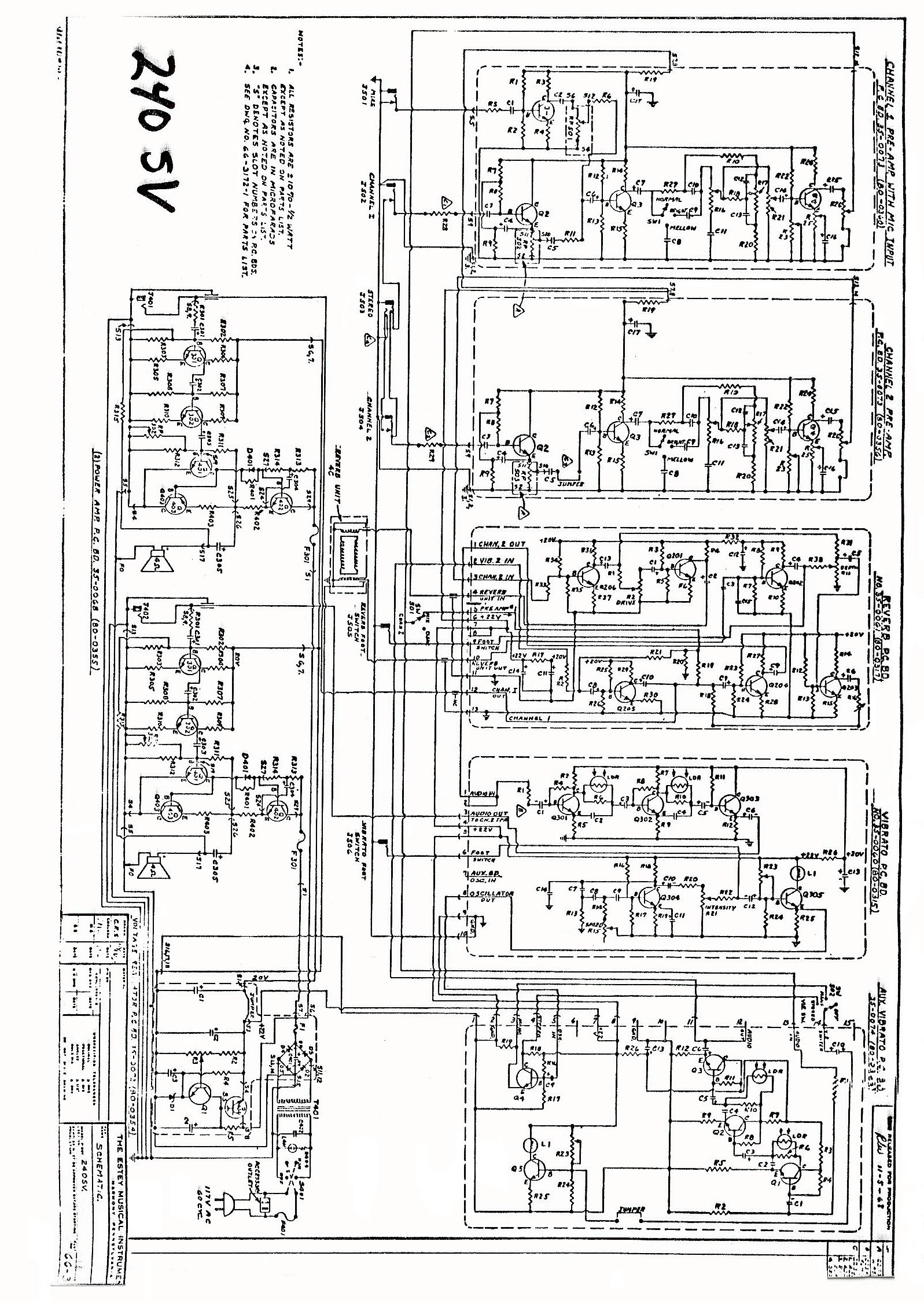 Luxury Peavey Rockmaster Schematic Gallery - Electrical Diagram ...