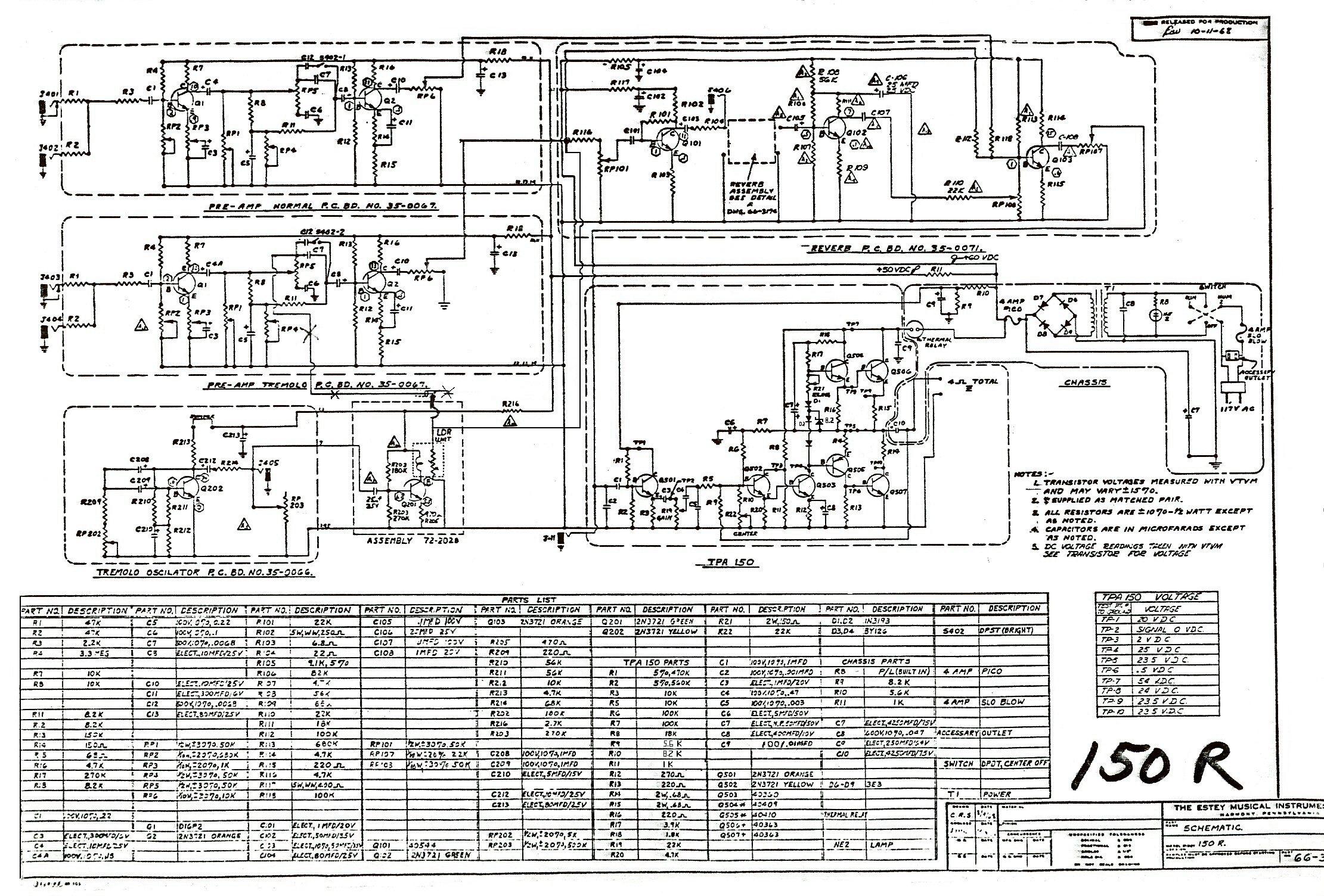 Tube Amp Diagram 150r Firestar Schematic